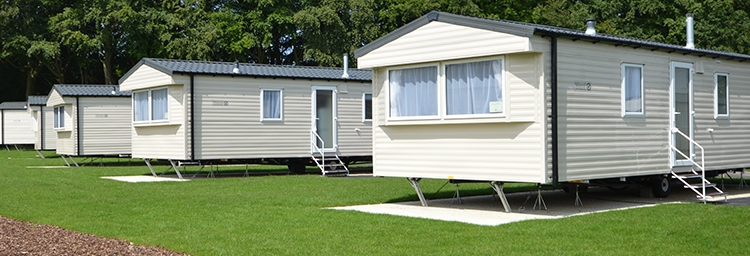 Hemsby Beach holiday park family amongst chalets