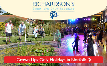 Richardson's Seacroft Holiday Village - Grown Ups only catered Holidays on the Norfolk Coast