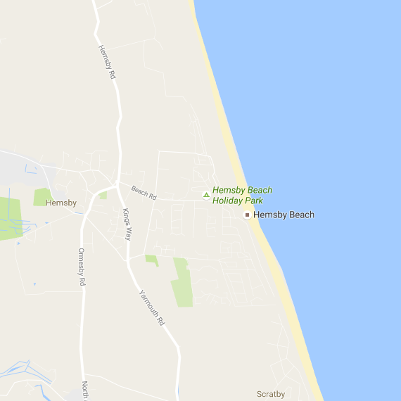 map of hemsby and norfolk