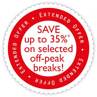 Selected Off-Peak Breaks From £79! – Save up to 35% on selected off peak breaks in April, May, June and July!