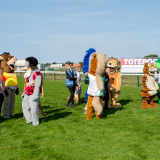 Richie the Monkey comes 4th in the Mascot Race at Great Yarmouth Racecourse's Family Fun Day!