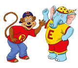 Richardson's Kids club characters Ellie and Richie