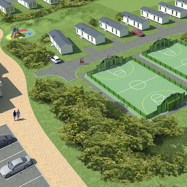 Render of hemsby beach holiday park