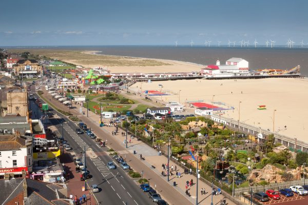 "The lively beach at Great Yarmouth is next to the town's ""Golden Mile"" - a definite must for family friendly beaches in Norfolk!"