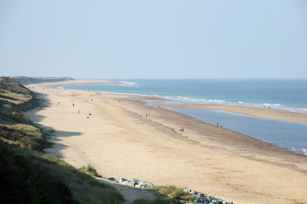 The beach at Scratby has no restrictions on dogs – perfect to add to your dog's day out in Norfolk.