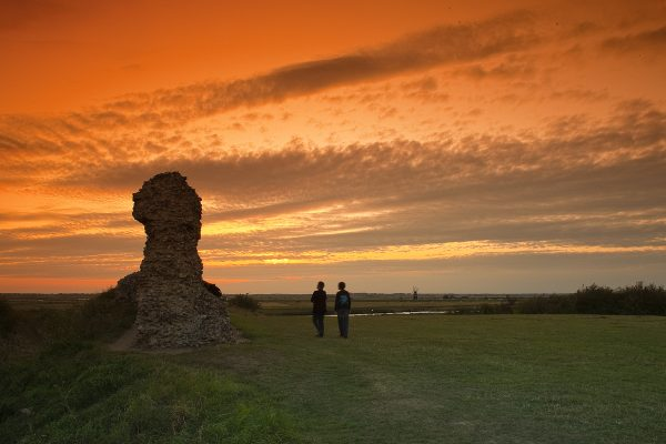 One of the best places to see Norfolk heritage and history, Burgh Castle has some stunning views.
