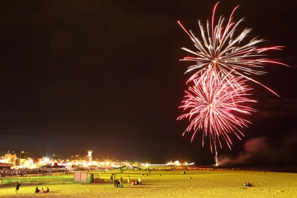 The free fireworks in Great Yarmouth, usually funded by Great Yarmouth Borough Council, is this year being funded by Great Yarmouth seaside businesses.