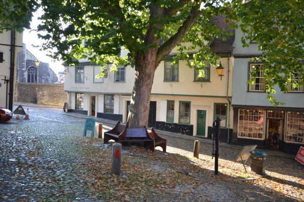 Norwich has some of the most beautiful spots in Norfolk, including the medieval street on Elm Hill.