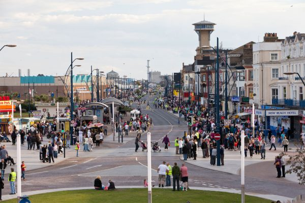 Great Yarmouth's Golden Mile where the Great Yarmouth Air Show will take place, photo by Adrian Buck, courtesy of Great Yarmouth Borough Council.
