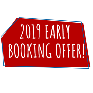 2019 EARLY BOOKING OFFER – SAVE up to 40%!*