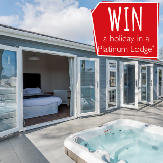 WIN a holiday in one of our Platinum Lodges with Hot Tub!*