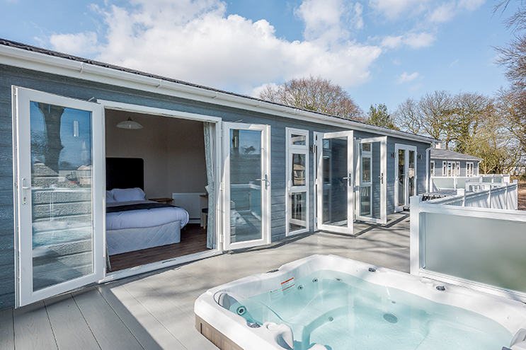 Richardson's Platinum Lodge with spa, perfect when looking for UK hot tub holidays.